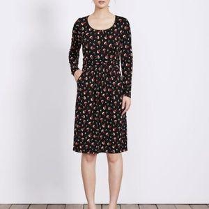 Boden Mabel Jersey Floral Print Above Knee Dress